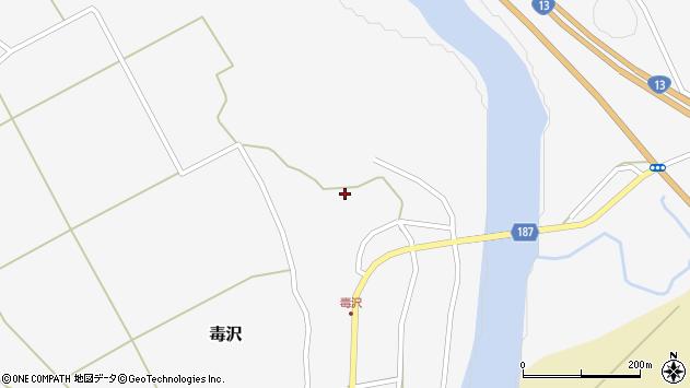 山形県尾花沢市毒沢788周辺の地図