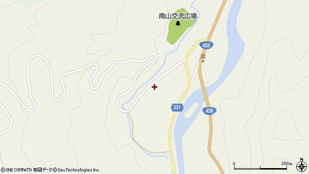 山形県最上郡大蔵村南山74周辺の地図