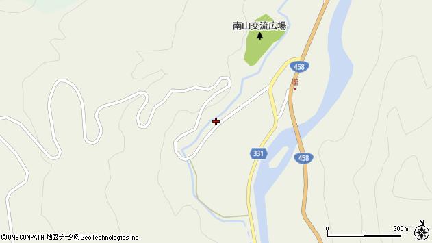 山形県最上郡大蔵村南山107周辺の地図