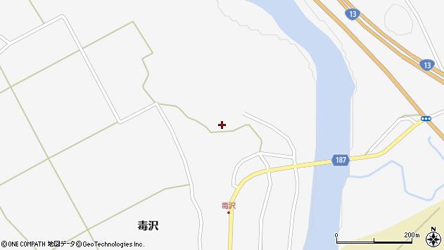 山形県尾花沢市毒沢791周辺の地図