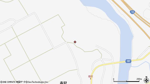 山形県尾花沢市毒沢798周辺の地図