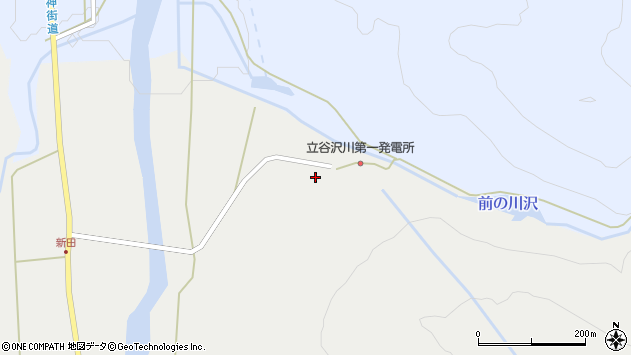 山形県東田川郡庄内町立谷沢水除10周辺の地図
