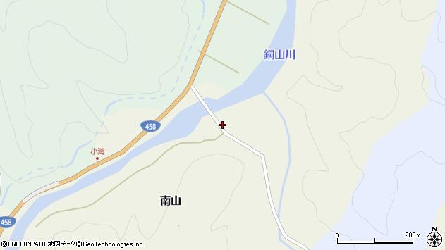 山形県最上郡大蔵村南山322周辺の地図