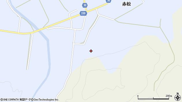 山形県最上郡大蔵村赤松1663周辺の地図