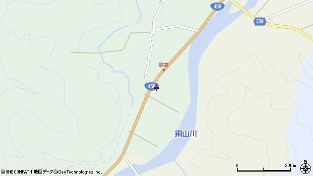 山形県最上郡大蔵村清水284周辺の地図