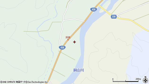 山形県最上郡大蔵村清水277周辺の地図