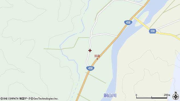 山形県最上郡大蔵村清水59周辺の地図