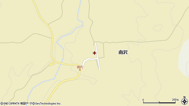 山形県尾花沢市南沢96周辺の地図