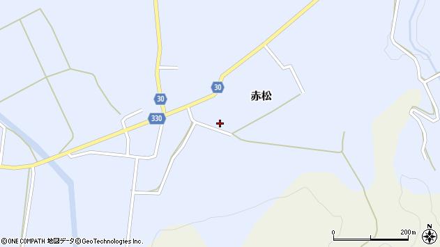 山形県最上郡大蔵村赤松802周辺の地図