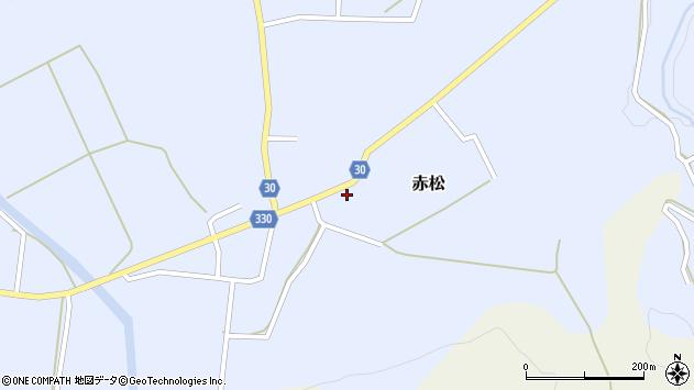 山形県最上郡大蔵村赤松659周辺の地図