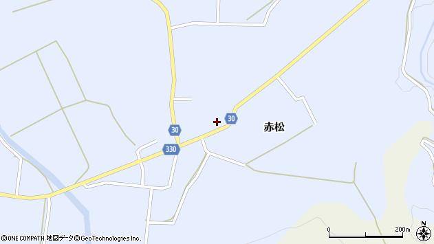 山形県最上郡大蔵村赤松661周辺の地図