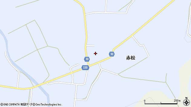 山形県最上郡大蔵村赤松672周辺の地図