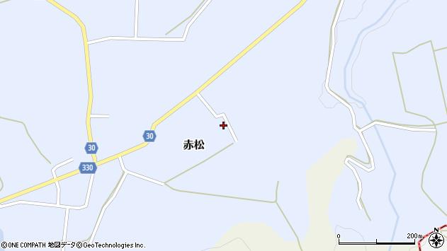 山形県最上郡大蔵村赤松1961周辺の地図
