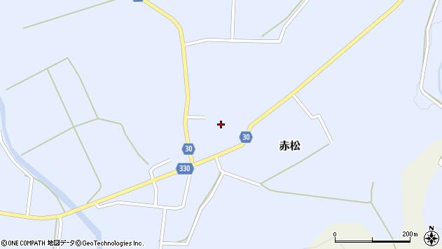 山形県最上郡大蔵村赤松678周辺の地図