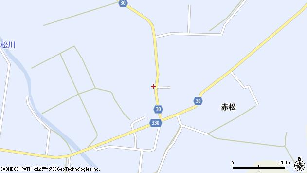 山形県最上郡大蔵村赤松645周辺の地図