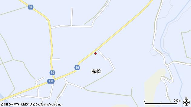 山形県最上郡大蔵村赤松1968周辺の地図