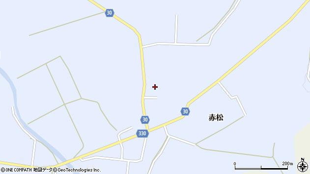 山形県最上郡大蔵村赤松693周辺の地図