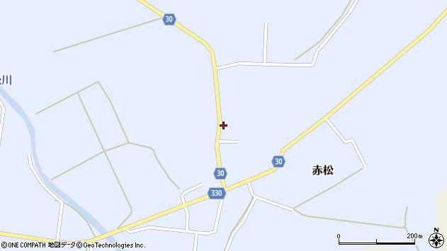 山形県最上郡大蔵村赤松696周辺の地図