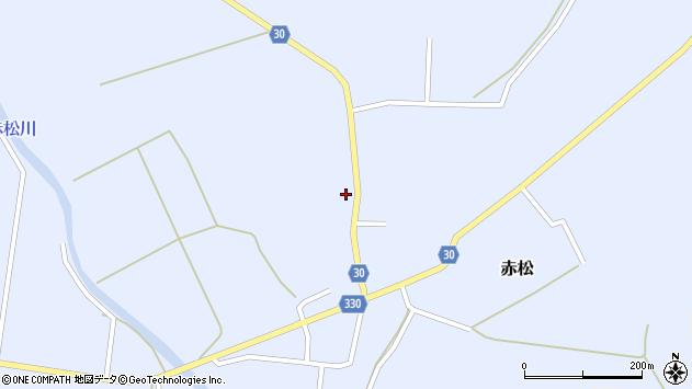 山形県最上郡大蔵村赤松714周辺の地図