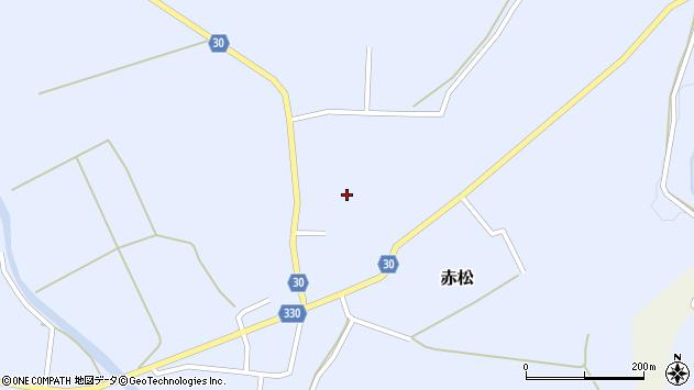 山形県最上郡大蔵村赤松689周辺の地図