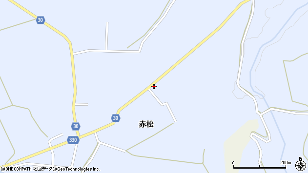 山形県最上郡大蔵村赤松1970周辺の地図