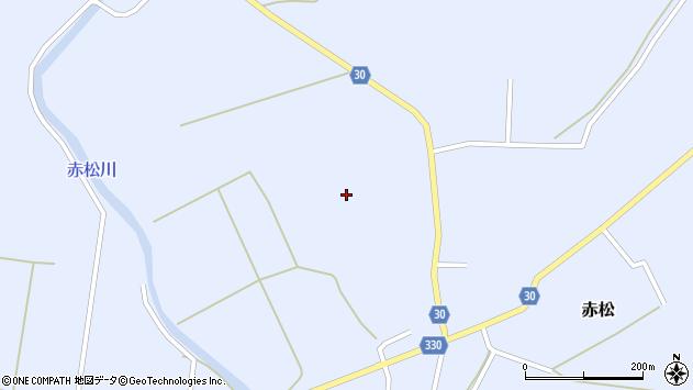 山形県最上郡大蔵村赤松赤松周辺の地図
