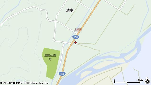 山形県最上郡大蔵村清水126周辺の地図
