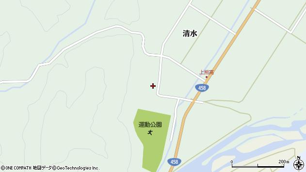 山形県最上郡大蔵村清水124周辺の地図