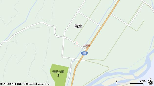 山形県最上郡大蔵村清水3546周辺の地図