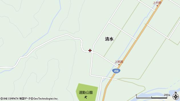 山形県最上郡大蔵村清水158周辺の地図