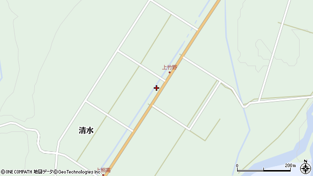 山形県最上郡大蔵村清水3577周辺の地図