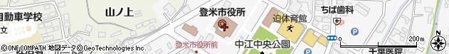 宮城県登米市周辺の地図