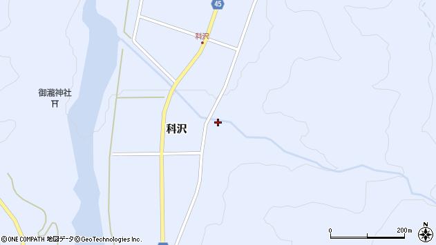 山形県東田川郡庄内町科沢滝ノ沢55周辺の地図