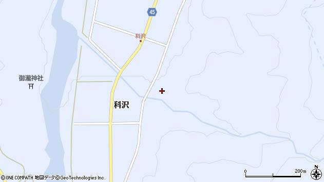 山形県東田川郡庄内町科沢滝ノ沢57周辺の地図