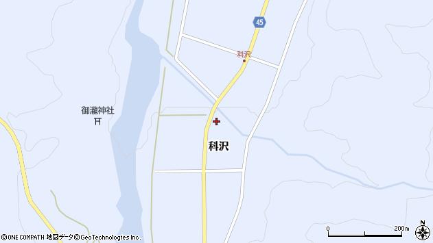 山形県東田川郡庄内町科沢境田181周辺の地図