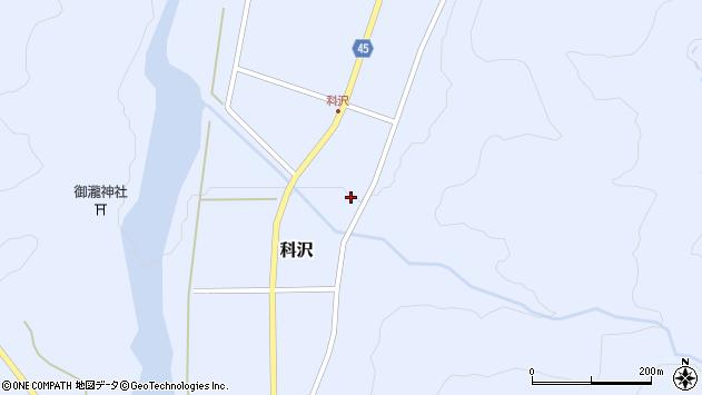 山形県東田川郡庄内町科沢滝ノ沢66周辺の地図