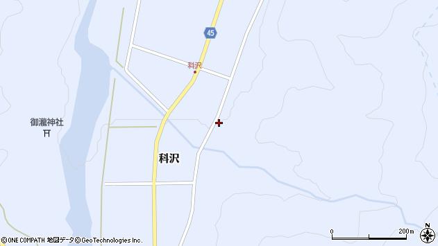 山形県東田川郡庄内町科沢滝ノ沢68周辺の地図