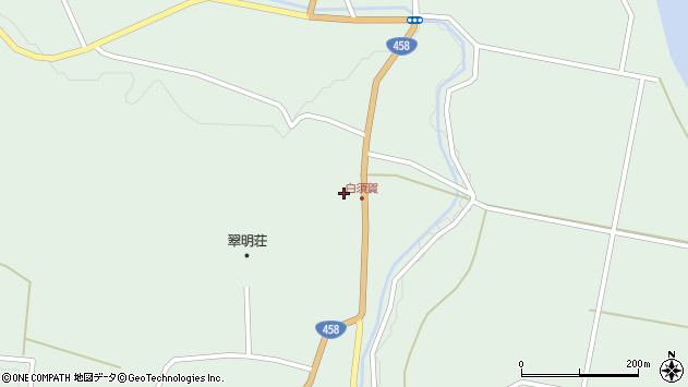 山形県最上郡大蔵村清水1493周辺の地図