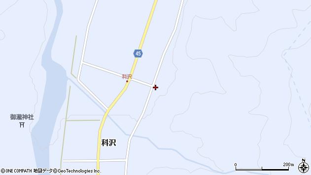山形県東田川郡庄内町科沢滝ノ沢107周辺の地図