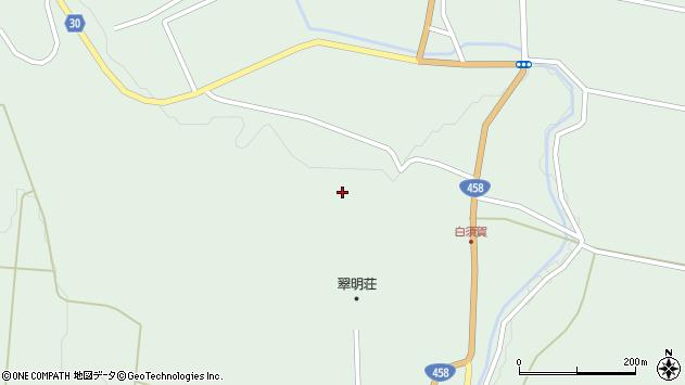 山形県最上郡大蔵村清水白須賀周辺の地図