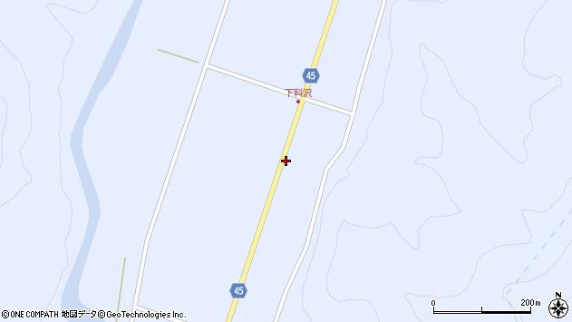 山形県東田川郡庄内町科沢境田81周辺の地図