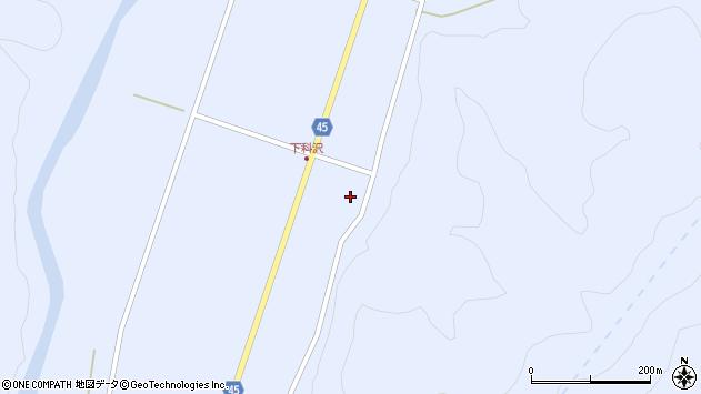 山形県東田川郡庄内町科沢堅田3周辺の地図