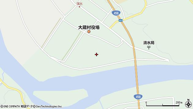 山形県最上郡大蔵村清水2305周辺の地図