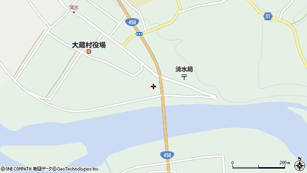 山形県最上郡大蔵村清水2258周辺の地図
