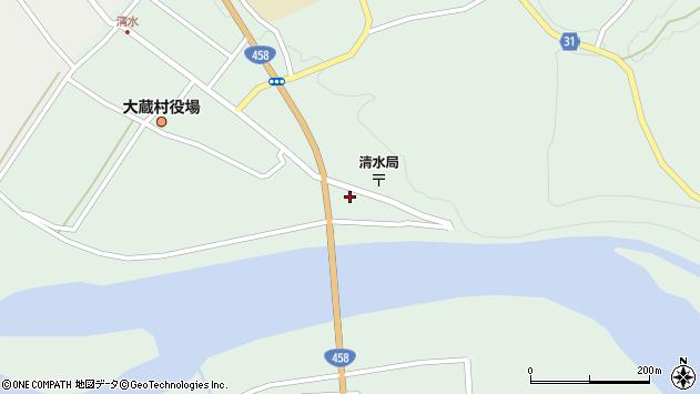山形県最上郡大蔵村清水2252周辺の地図