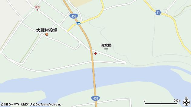 山形県最上郡大蔵村清水2253周辺の地図