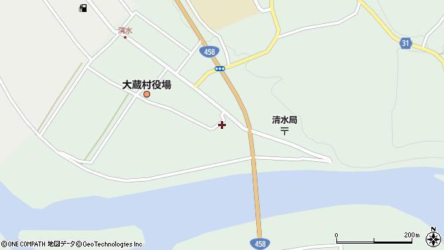 山形県最上郡大蔵村清水2261周辺の地図