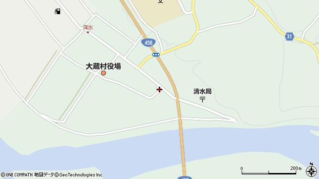 山形県最上郡大蔵村清水2566周辺の地図