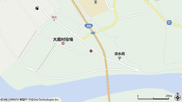 山形県最上郡大蔵村清水2562周辺の地図