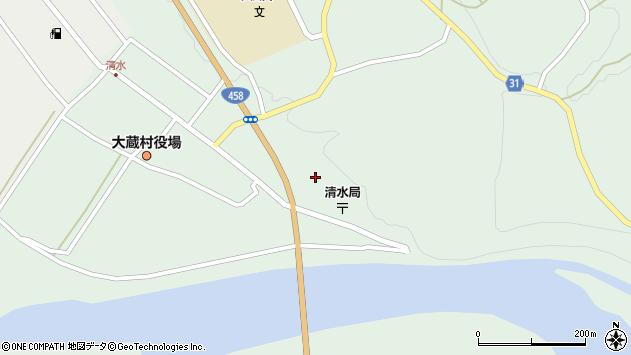 山形県最上郡大蔵村清水5208周辺の地図